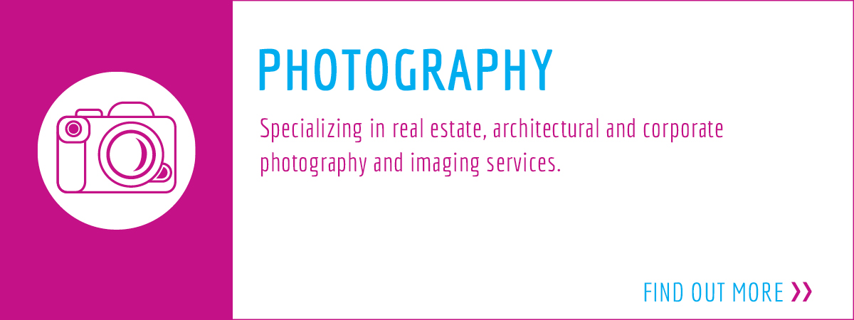 Specializing in real estate, architectural and corporate photography and imaging services.